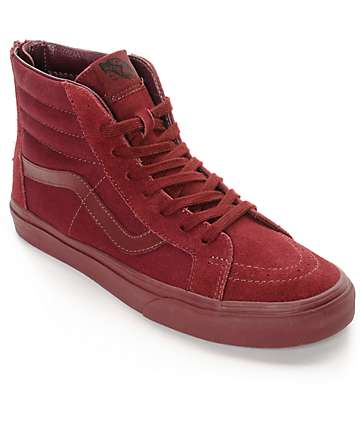 Vans Sk8-Hi Zip Port Royale Mono Skate Shoes (Mens)