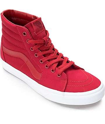 Vans Sk8-Hi zapatos de skate en rojo y blanco