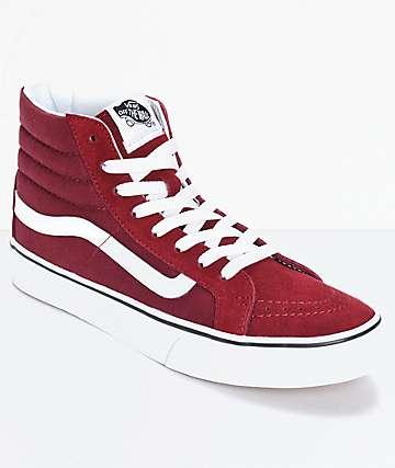 Vans Sk8 Hi zapatos delgados color vino windsor (mujer)