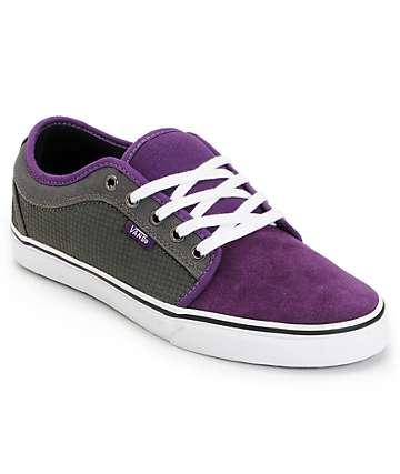 Vans Skate Shoes (Mens) Chukka Low Purple & Charcoal Houndstooth Skate Shoes (Mens)