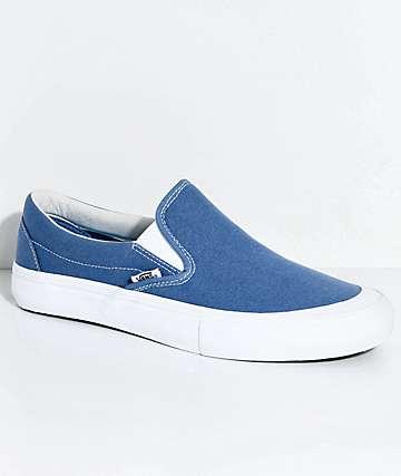Vans Slip-On Pro Allen zapatos de skate en azul marino y blanco