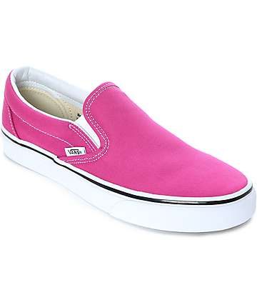 Vans Slip-On Very Berry & True White Skate Shoes