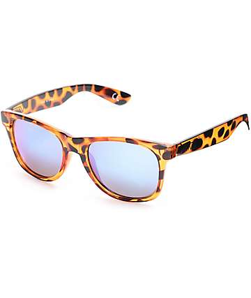 Vans Spicoli Honey Tortoise & Blue Mirror Sunglasses