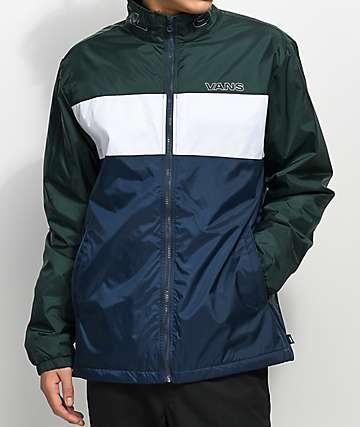 Vans Starboard chaqueta con cremallera en azul y verde