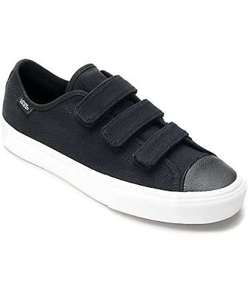 Vans Style 23V Black & White Twill Womens Shoes