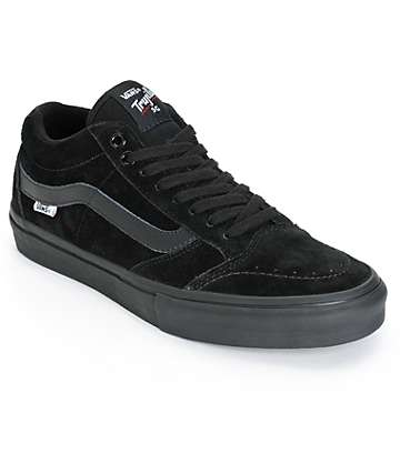 Vans TNT SG Blackout Skate Shoes (Mens)