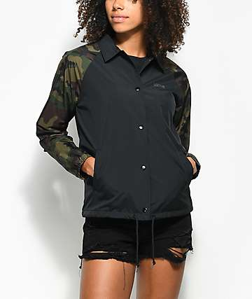 Vans Thanks Black & Camo Coaches Jacket