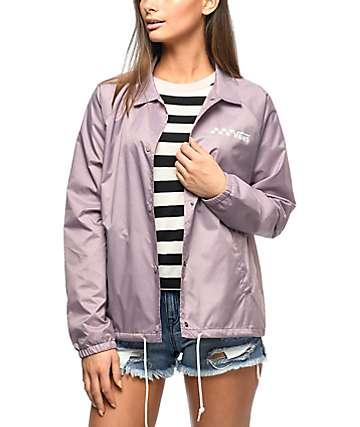 Vans Thanks chaqueta entrenador en morado pastel