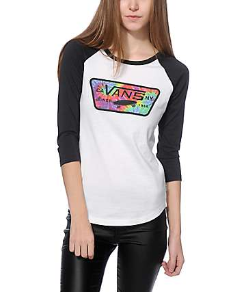 Vans Tie Dye Full Patch Baseball Tee
