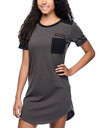 Vans Tough Military Charcoal T-Shirt Dress