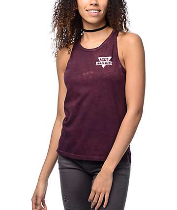 Vans Triangle Burgundy Cloudwash Tank Top