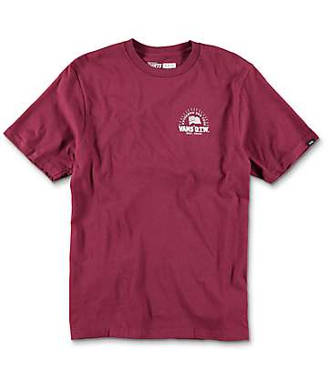 Vans Tried And True Boys Burgundy T-Shirt