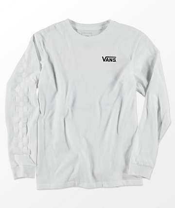 Vans X Thrasher Boys Checker White Long Sleeve T-Shirt