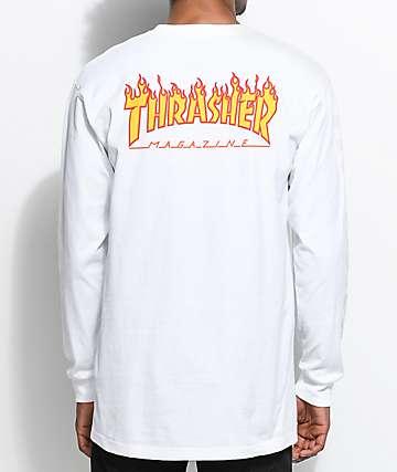 Vans X Thrasher camiseta blanca de manga larga