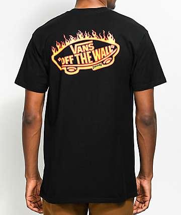 Vans X Thrasher camiseta negra con bolsillo