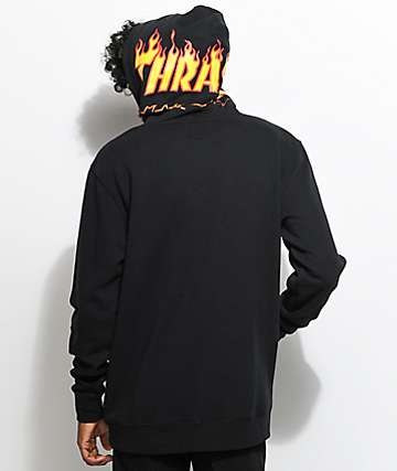 Vans X Thrasher sudadera negra con capucha