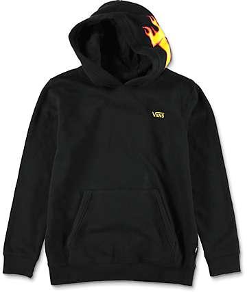 Vans X Thrasher sudadera negra con capucha para niños