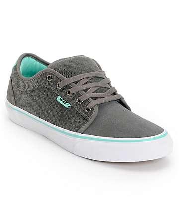Vans x Alien Workshop Chukka Low Grey & Mint Skate Shoes (Mens)
