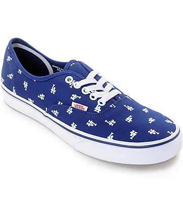 Vans x MLB Authentic Dodgers Canvas Skate Shoes