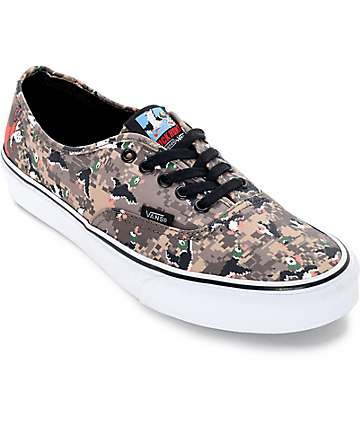 Vans x Nintendo Authentic Duck Hunt Camo Skate Shoes