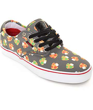 Vans x Nintendo Chima Pro Mushrooms Grey Skate Shoes