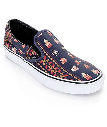 Vans x Nintendo Classic Zelda Parisian Night Slip On Shoes (Mens)