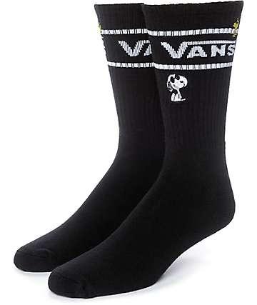 Vans x Peanuts Black Crew Socks