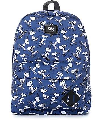 Vans x Peanuts Old Skool II mochila en azul marino