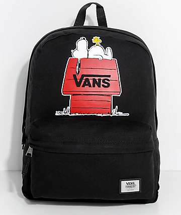 Vans x Peanuts Realm Black 22L Backpack