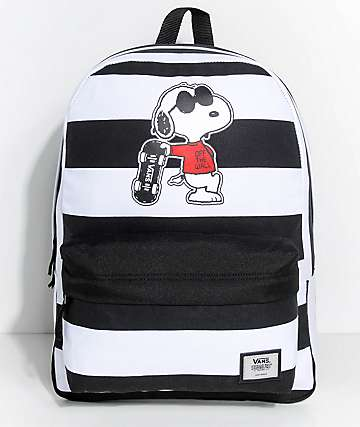 Vans x Peanuts Realm Joe Cool Stripe 22L Backpack