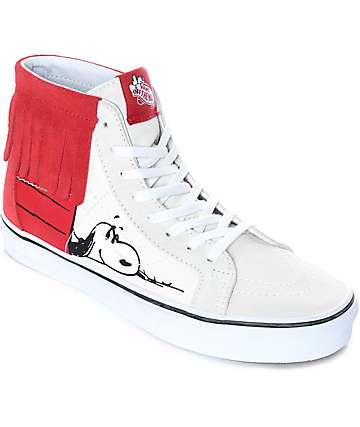 Vans x Peanuts Sk8-Hi Doghouse Moc zapatos de skate