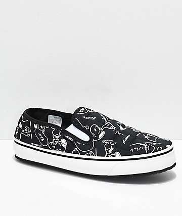 Vans x Peanuts Slip-Er Snoopy Black & White Shoes