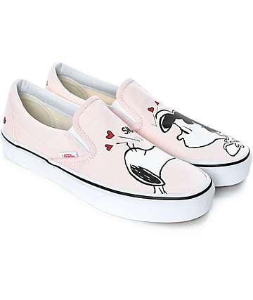 Vans x Peanuts Slip-On Smack Pearl Skate Shoes