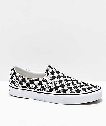 Vans x Peanuts Slip-On Snoopy Checkered Skate Shoes