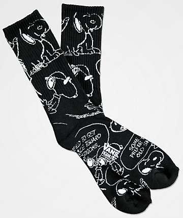 Vans x Peanuts Snoopy Black Crew Socks