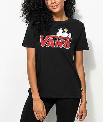 Vans x Peanuts Snoopy camiseta negra