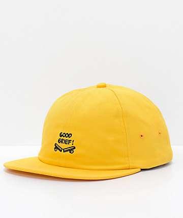Vans x Peanuts Yellow Jockey Strapback Hat