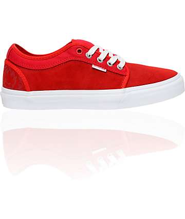 Vans x Spitfire Chukka Low Red Skate Shoes (Mens)