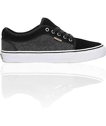 Vans x Zumiez Chukka Low Black & Grey Quilt Skate Shoes (Mens)