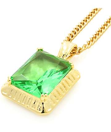 Veritas Emerald Pendant Necklace