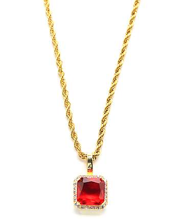 Veritas Micro Ruby Pendant Necklace