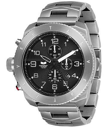 Vestal Restrictor Sliver & Black Mens Chronograph Watch