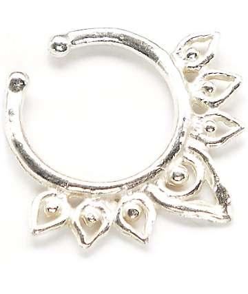 VidaKush Aurora Silver Faux Septum Ring