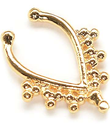 VidaKush Juno Gold Faux Septum Ring