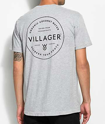 Villager Script Grey T-Shirt