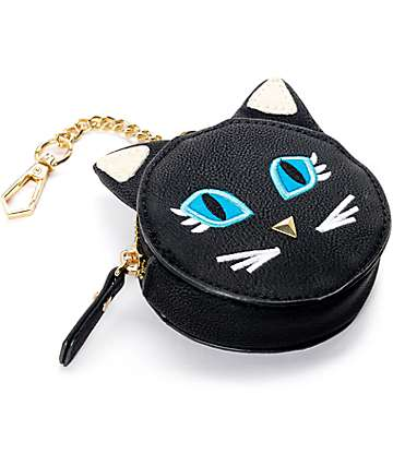 Violet Ray Black Cat Face Coin Charm