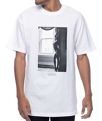 Visual 3 White T-Shirt