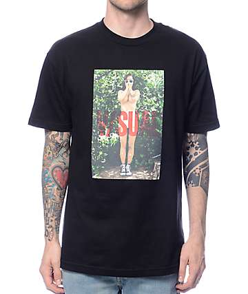 Visual Backyard Black T-Shirt