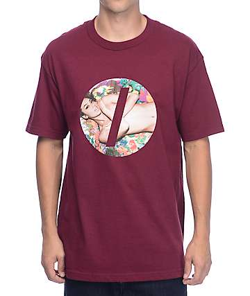 Visual Censored Maroon T-Shirt
