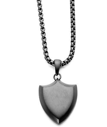 Vitaly Protegir Matte Black Necklace